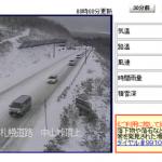 【速報】面白いように雪が積もっていく今日の中山峠(北海道)の様子