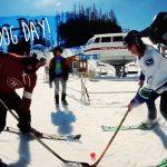 新しいスポーツ?スキー&ホッケー「Hockey Dog Day」