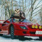 フェラーリF40でスノーキャンプ?ドリフトで雪山を駆け上がるF40がすごすぎる