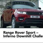 スキー滑降コースをレンジローバー・スポーツが150km/h以上で爆走「Inferno Downhill Challenge」
